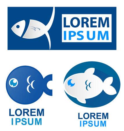 fish symbol set isolate on white background Vector