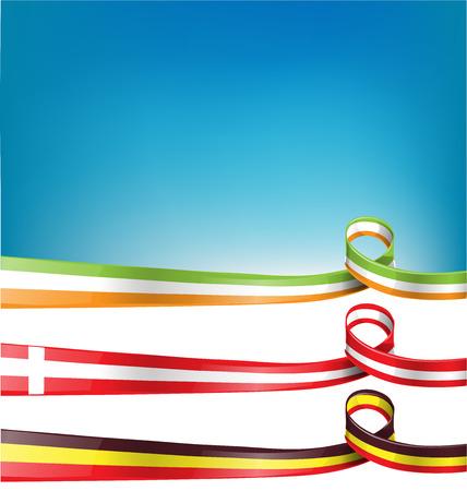 ireland flag: belgium, switzerland and ireland flag set