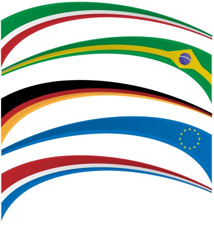 germanic: flag set on white background