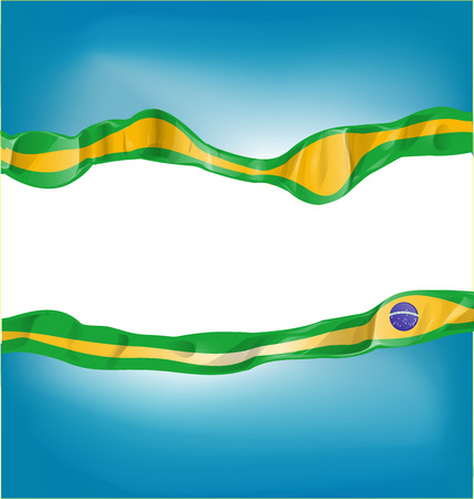 background with brazil flag on white background