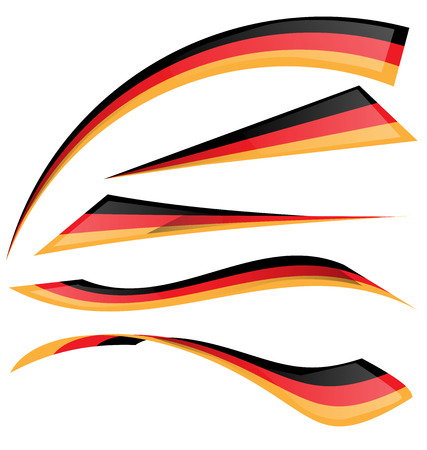 bandera alemania: alemania bandera fij� en el fondo blanco