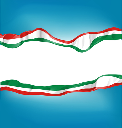 achtergrond met Italiaanse en Mexicaanse vlag