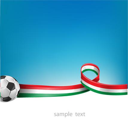 mexican flag: italiana e messicana set bandiera con pallone da calcio