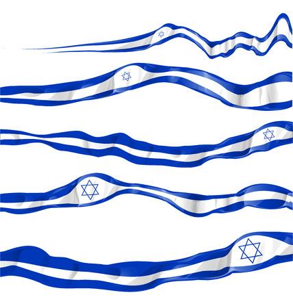 palestine: israel flag set on white background