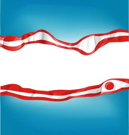 kamikaze: japan flag on  background Illustration
