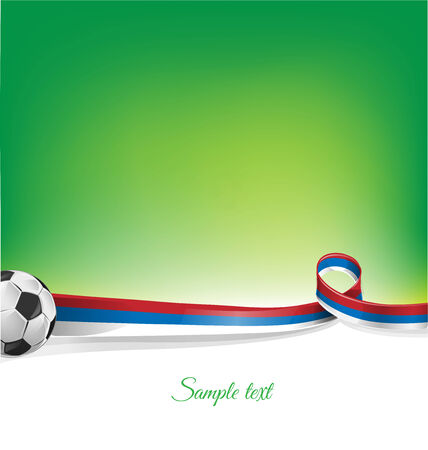 festivities: russian  background with soccer ball Illustration