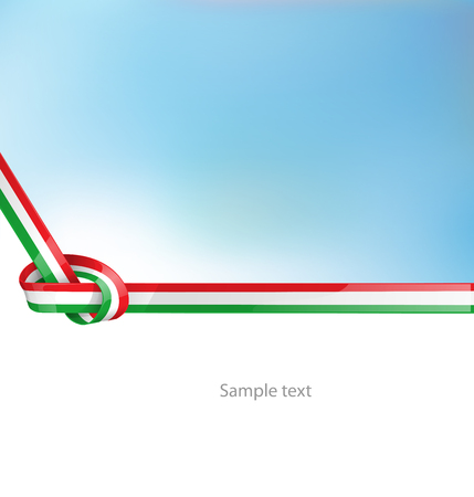 italian ribbon  flag on background  Illustration