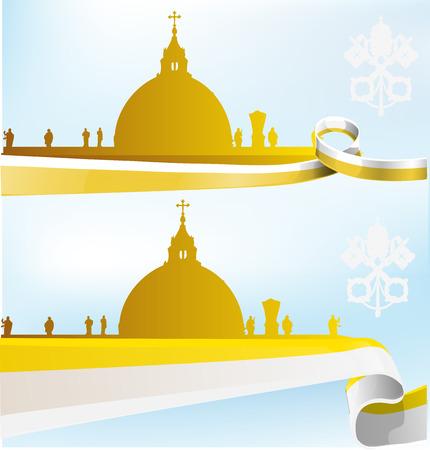Vaticaan achtergrond instellen op de hemel achtergrond