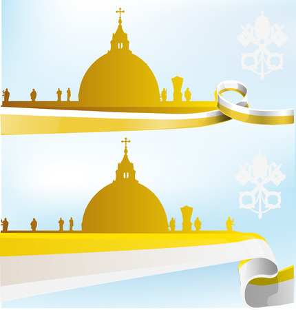 vatican background set on sky background