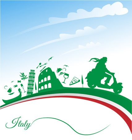 flag of italy: Italian holidays background with flag