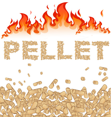 pellet background with fire Vector