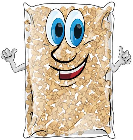 pellet: pellet bag isolated on white background Illustration