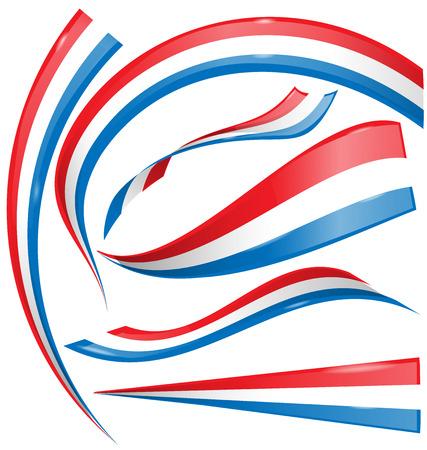bandera francia: set bandera de Francia aislada sobre fondo blanco