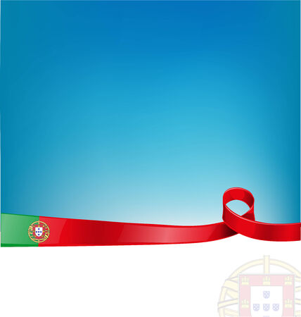 made in portugal: portugal ribbon flag on background Illustration