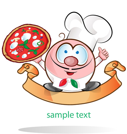 italian chef symbol,isolated on white background Vector