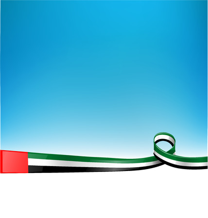 emiraten vlag op de achtergrond Stock Illustratie