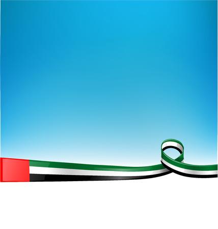 emiratos bandera en el fondo Ilustración de vector
