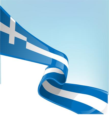 greek flag: Greek flag on sky background