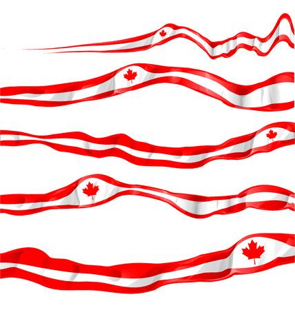 canada flag set isolated on white