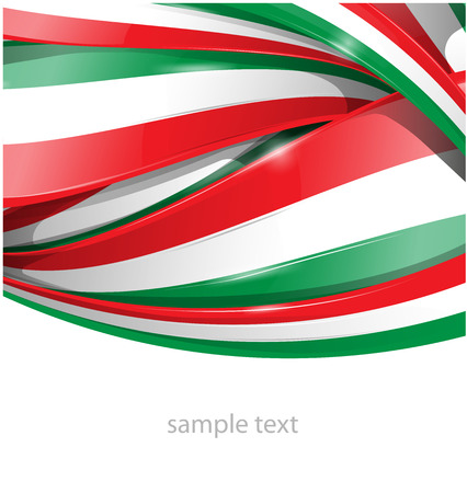 the italian flag: Italiana e messicana flag background
