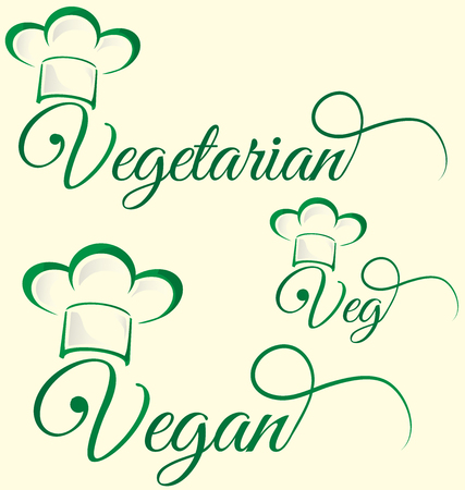 vegetarian and veg symbol menu isolated on white Vector