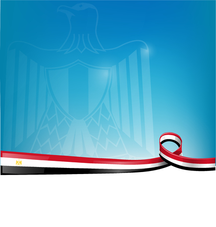 elections: egypt flag on background Illustration