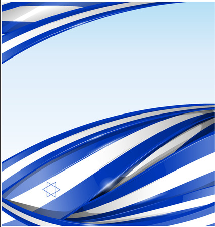 israel background with texture flag Vector