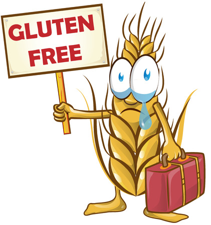 wheat cartoon isolated on white  background Vector