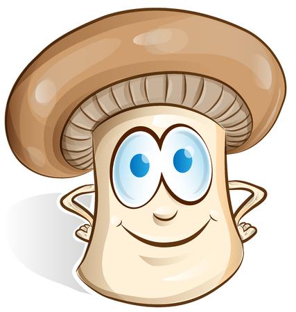 cartoon mushroom: mushroom cartoon isolated on white background Illustration