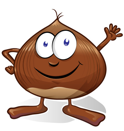 brown: chestnut cartoon isolated on white background