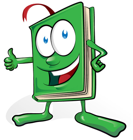 libro de dibujos animados aislado en el fondo blanco