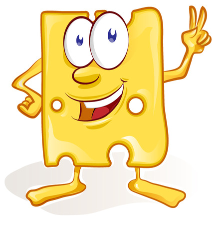 cheese cartoon: fun cheese cartoon isolated on white background