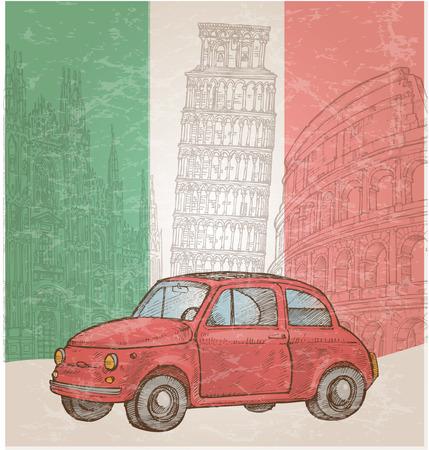 Italiaanse achtergrond met symbool element