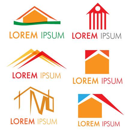 house icon set isolated on white background Illustration