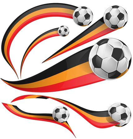 belgium flag: belgium flag set with soccer ball on white background Illustration