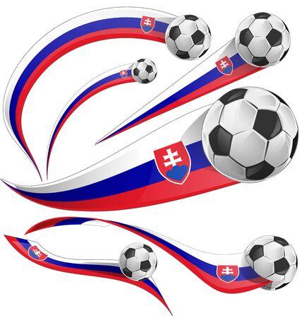 slovakian: Slovakia flag with soccer ball