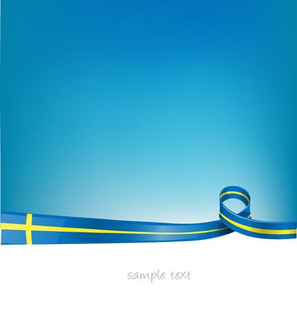 sweden flag on sky  background Illustration