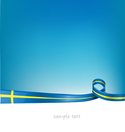 sweden flag on sky  background Иллюстрация