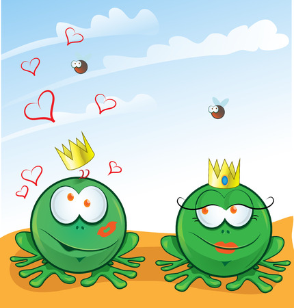 frog in love: couple frog in love on background