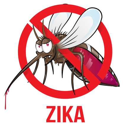 aedes: mosquito zika cartoon isolated on white Illustration