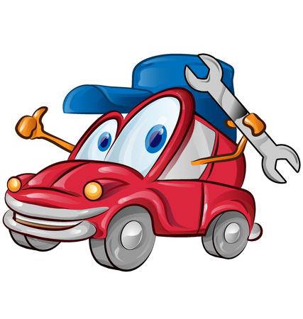 car garage symbol cartoon on white background Ilustração