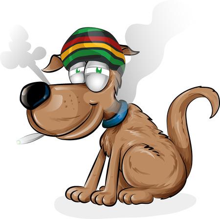 Dibujo animado del perro jamaicana aislado en el fondo blanco Foto de archivo - 64557639