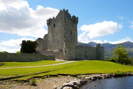 Ross Castle on a sunny morning, County Kerry, Ireland