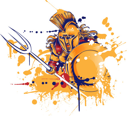 Roman warrior with the trident.