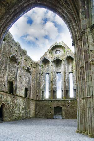 inside the castle Rock of Cashel in ireland