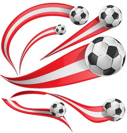 peru flag with soccer ball