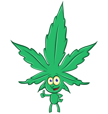 marijuana cartoon isolated on white background