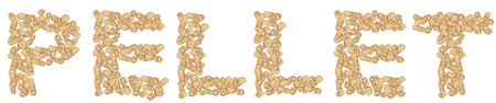 written  pellet isolated on white .vector illustration