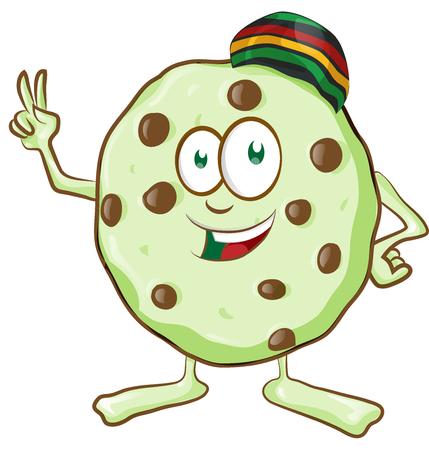 fun character  cookie with marijuana flavor Illustration