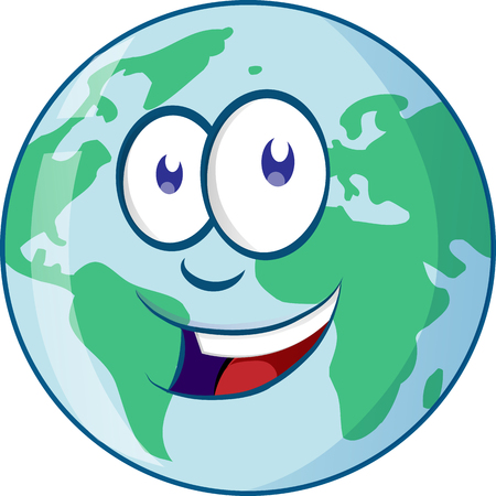 Planet earth cartoon character Ilustracja